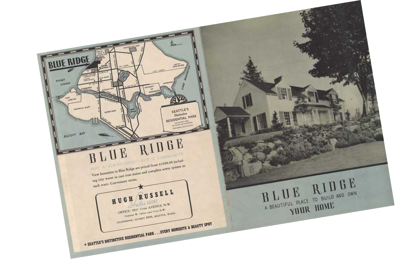 Brochure from the early days of Blue Ridge.